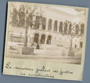 Tunisie-Tunis-Le-nouveau-Palais-de-Justice-en-construction-Vintage-cit