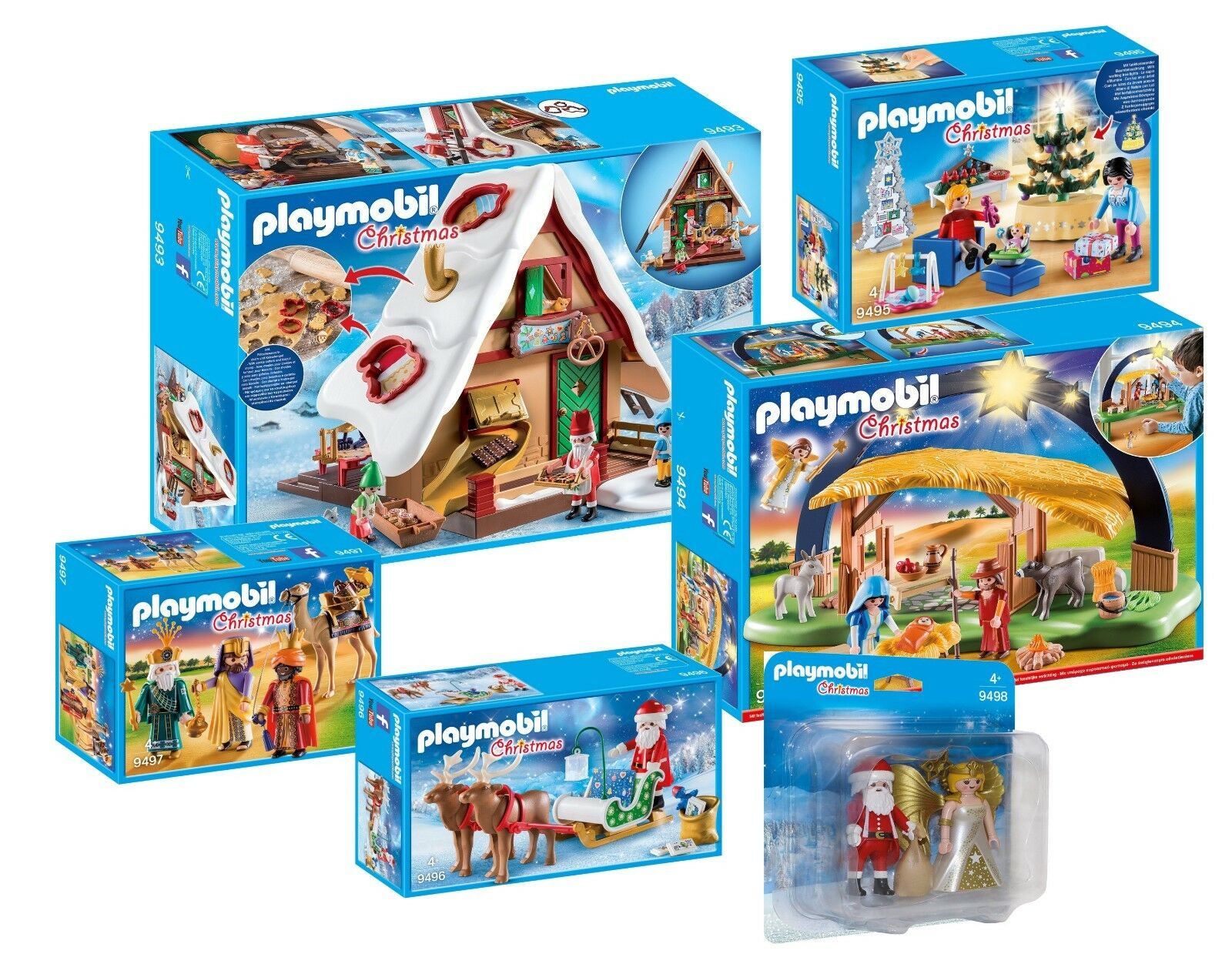 PLAYMOBIL® PLAYMOBIL® PLAYMOBIL® Weihnachts-Komplettset  9493 9494 9495 9496 9497 9497 Neu 0cbbca