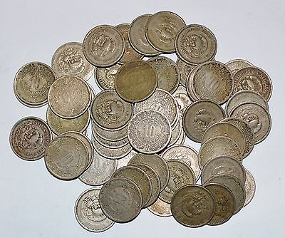 MEXICO lot UNSEARCHED 50 CENTAVOS world foreign snake 50 COINS