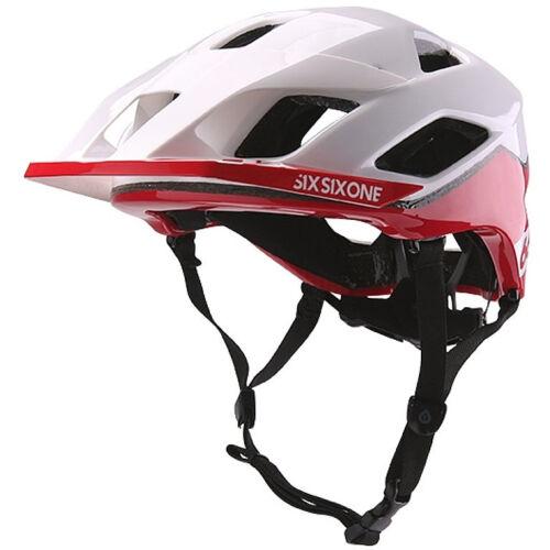 RED 661 SIXSIXONE EVO AM PATROL MTB MOUNTAIN BIKE CYCLING HELMET WHITE