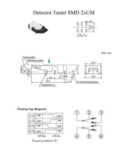 10x Detector Palpeur SMD 2xum