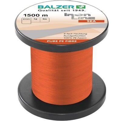 Balzer Iron Line 8x Multicolor alle 5m 0,15mm 10m 8fach geflochtene Meeresschnur