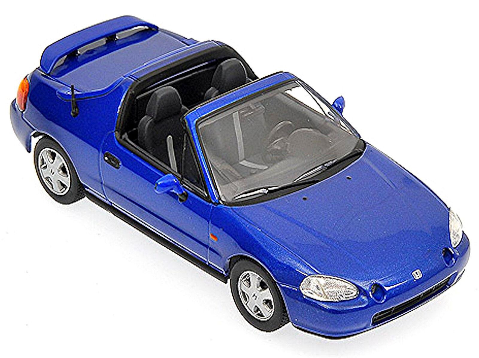 Honda Cr-X Del Sol 1992-98 blu blu Metalizado 1 43 Minichamps