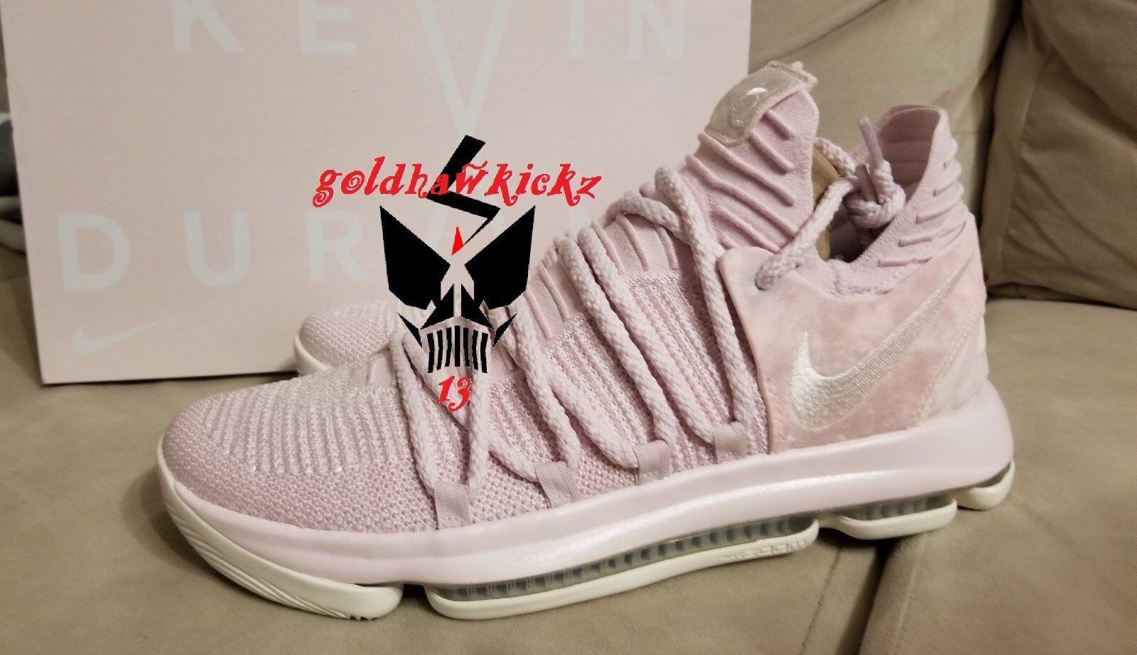 Nike kd x 10 qs zia pearl rosa aq4110-600 cancro durant