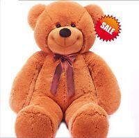 1.6m Tall Giant Teddy Bear Stuffed Plush Doll Xmas Birthday Gift Dark Brown
