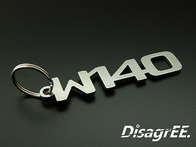 """Keyfob Keychain /""""W123/"""" for Mercedes E 240D 3.0 280E 300 stainless steel smooth"""