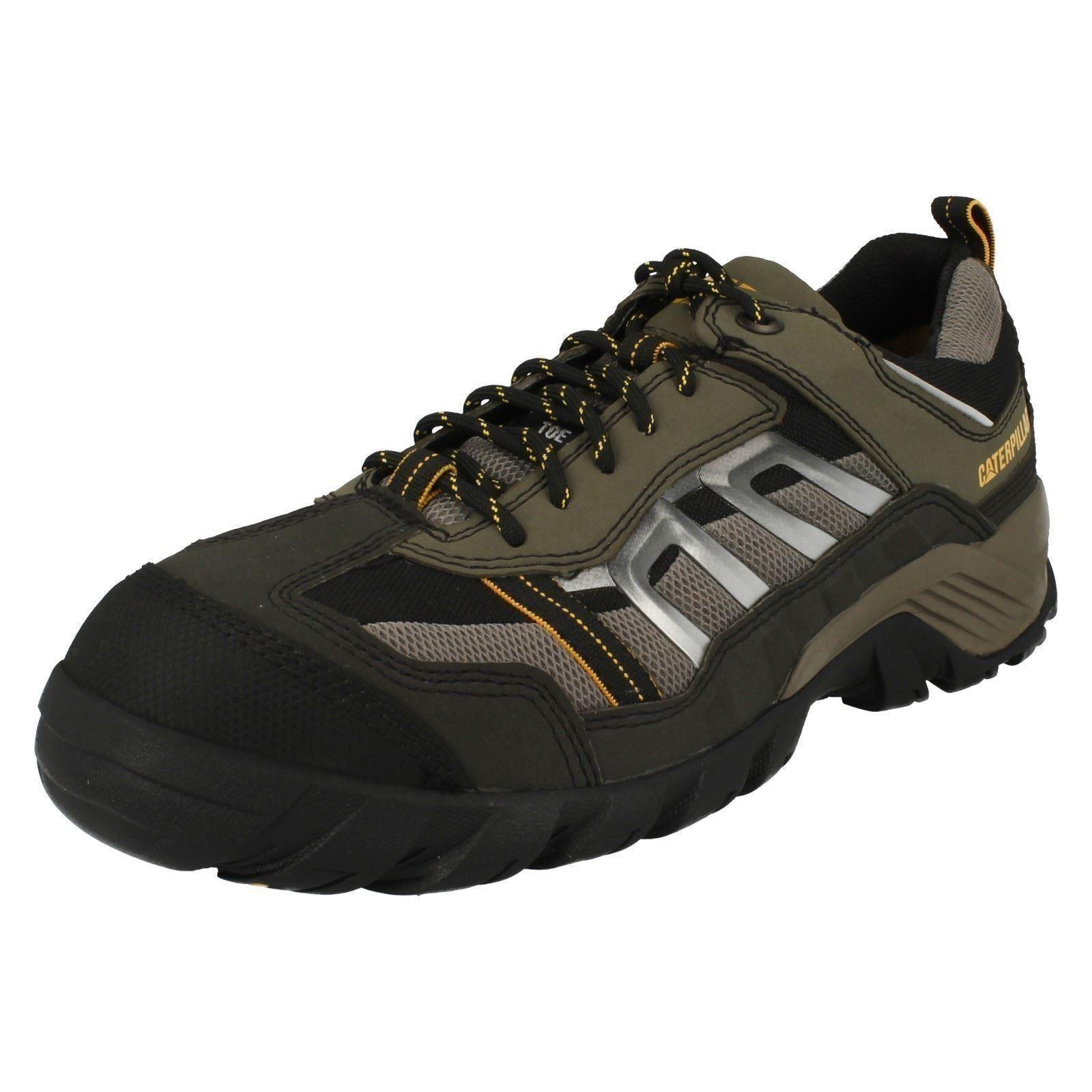Scarpe casual da uomo Uomo Caterpillar Antiscivolo Antinfortunistiche scarpe- Marrone Pod/Grigio
