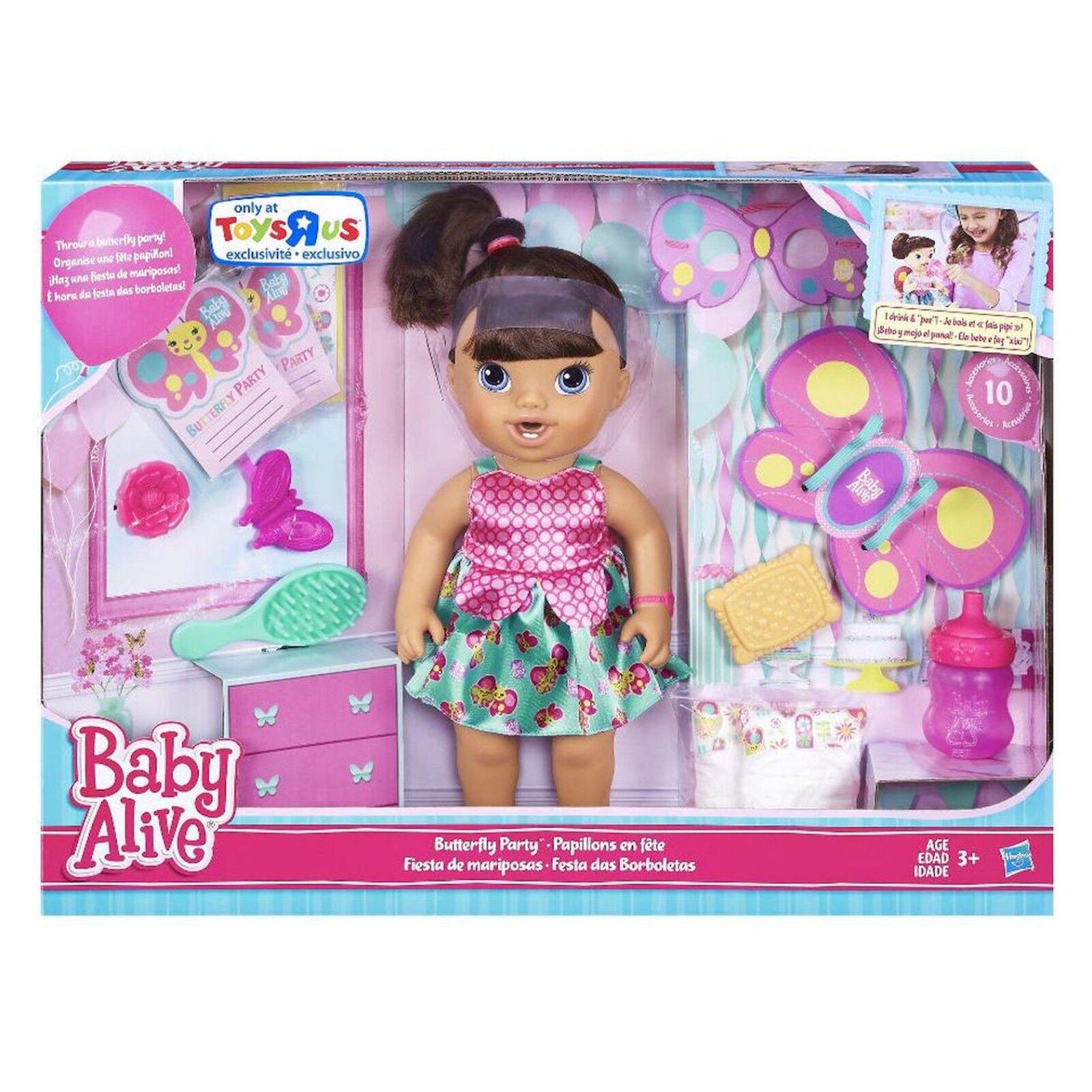 Baby Alive Brianna es Mariposa para fiesta Morena Playset Toys  R  Us Exclusivo