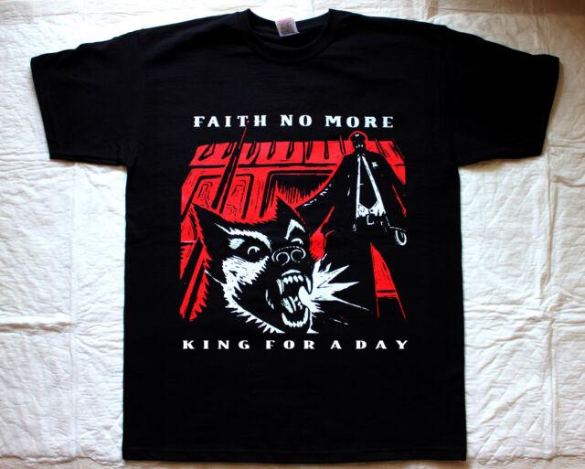 FAITH NO MORE KING FOR A DAY'95 MIKE PATTON MR.BUNGLE FANTOMAS BLACK T-SHIRT