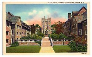 Mid-1900s-Baker-Court-Cornell-University-Ithaca-NY-Postcard