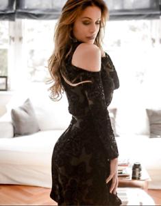 Karen-Millen-Cold-Cut-Shoulder-Mini-Cocktail-Flare-Party-Dress-6-to-14-DZ208-New