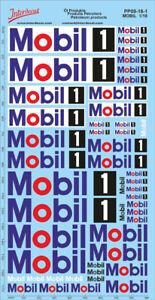 Öl Produkte 11 Sponsoren Decals 1//18 Naßschiebebild Motoröl Tankstelle PP11-18-2