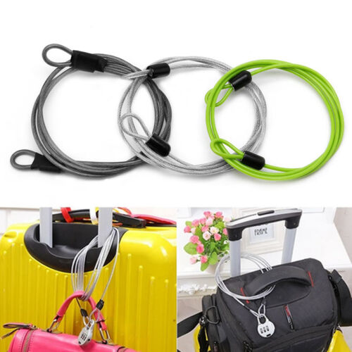 100cm x 2mm Cycling Sport Security Loop Cable Lock Bicycle Bikes Scooter U-Lock