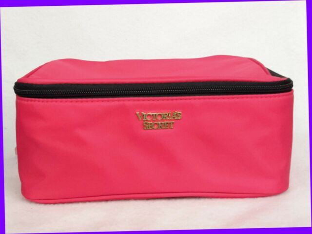 1 Victoria S Secret Pink Cosmetic Makeup Beauty Pouch Travel Bag Square Large