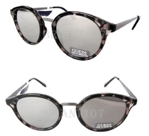 NWT GUESS GF0305 Unisex Sunglasses Granite//Silver mirror $68 tiny defect