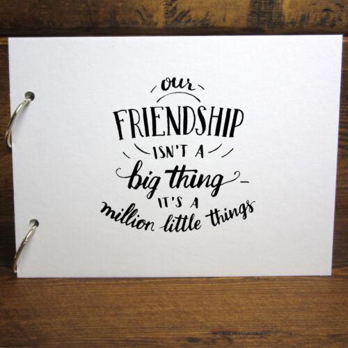 A4//A5 Our Friendship Scrapbook Removable Pages Photo Album DIY Keepsake