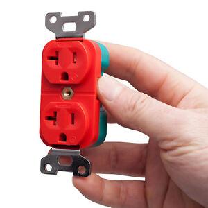 Pangea-Audio-Red-Premier-NEMA-5-20P-AC-Power-Receptacle-20-Amp