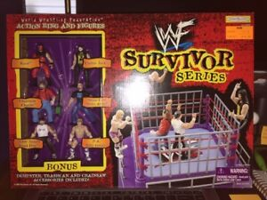 WWF-Survivor-Series-Action-Ring-and-Figures-New-in-Box-WWE