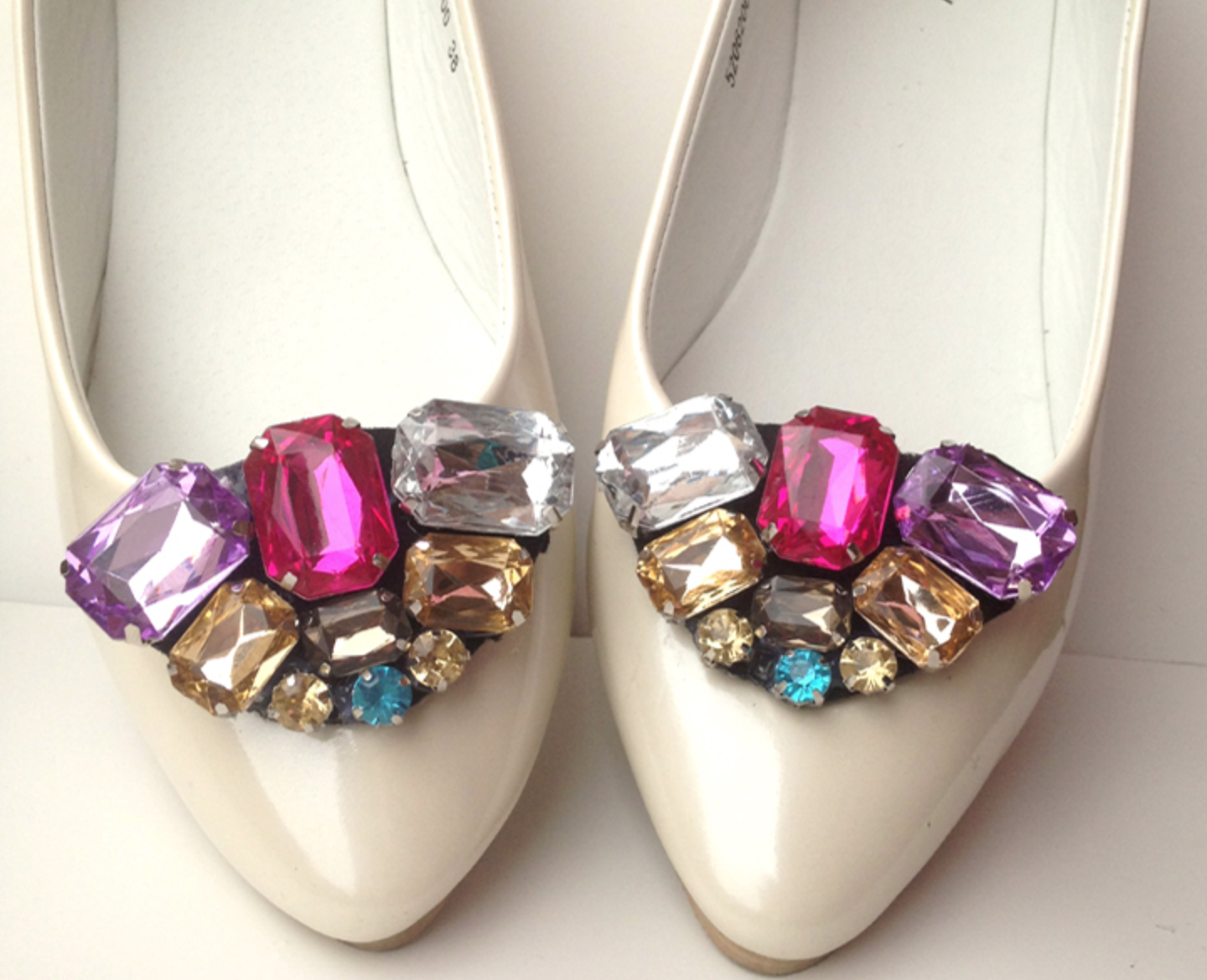 2 Pcs Pink Or Red Crystal Rhinestone Shoes Wedding Shoe Clips Pair