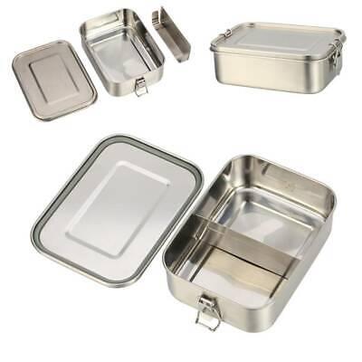 Edelstahl Lunchbox 1200ML mit herausnehmbarer Trennwand Auslaufsicher Brotdose