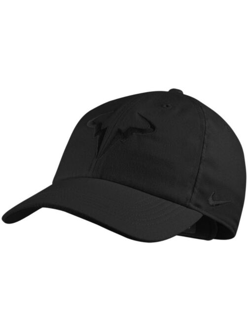 0749c37c714 Nike Rafa Nadal Bull Cap Hat Dri-fit Black Featherlight 715146010 ...