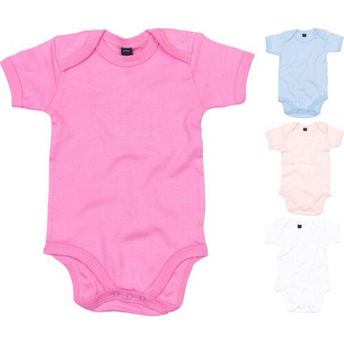Baby Bugz Cotton Colour Short Sleeve Romper Body Suit