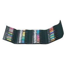 Black Nylon MARKER STORAGE CASE Copic Chartpak Prismacolor HOLDS 48