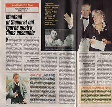 Coupure de presse Clipping 1992 Yves Montand & Simone Signoret  (1 page 1/2)