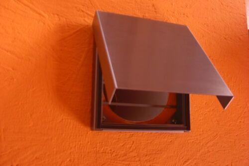 Abluftklappe Dunstabzug Edelstahl Küche Haus Dämmung Energiesparen Klappe