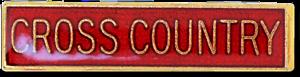 Cross Country Bar Pin Badge in Red Enamel