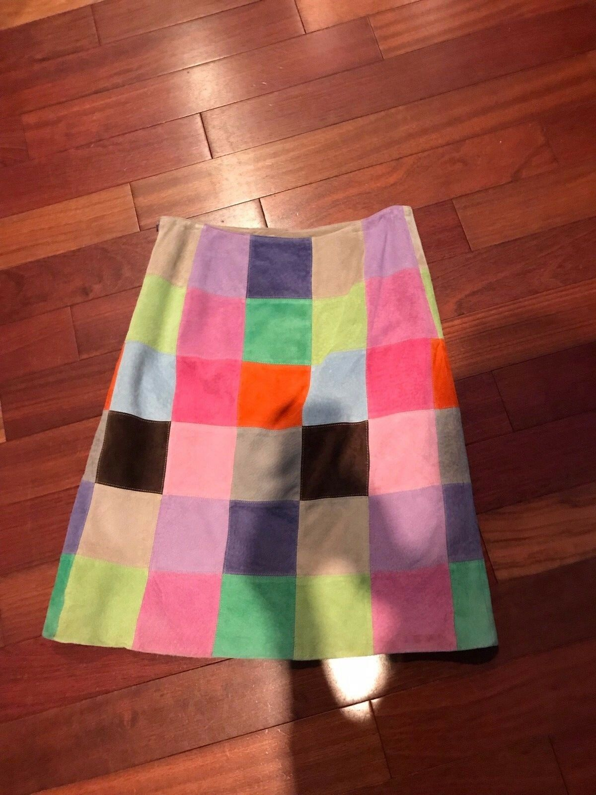 Isaac Mizrahi suede skirt multi color size 10