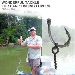 3pcs Carp Fishing Feeder Fishing Baits Cage Hook Rig Set Lead Sinker Tackle