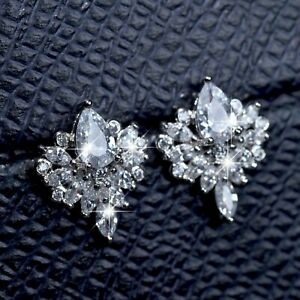 18k-white-gold-GF-made-with-Swarovski-crystal-stud-earrings-flower-pear-drop