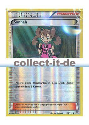 XY Reverse Holo Schicksalsschmiede 111//124 Sannah Pokemon