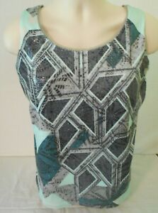 Coldwater-Creek-Womens-Tank-Top-with-Sequins-Medium-10-12