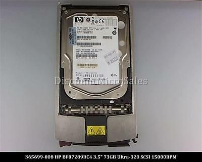 "HP 365699-008 BF07289BC4 Ultra 320 SCSI 73GB 15000 15K 3.5/"" Hard Drive"