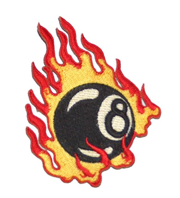 A813 Aufnäher Patch Rockabilly 50er Jahre Old School Tattoo Fire 8Ball Billard