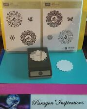 """Stampin Up FOUR SEASONS & 2 3/8"""" SCALLOP CIRCLE Punch Bird Butterfly Medallions"""
