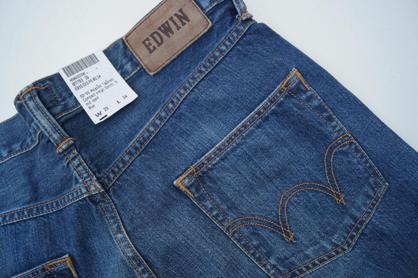 EDWIN relaxed Herren Men Jeans Hose 29 34 W29 L34 darkBlau stone wash used NEU  | Ausgang  | Innovation  | Won hoch geschätzt und weithin vertraut im in- und Ausland vertraut
