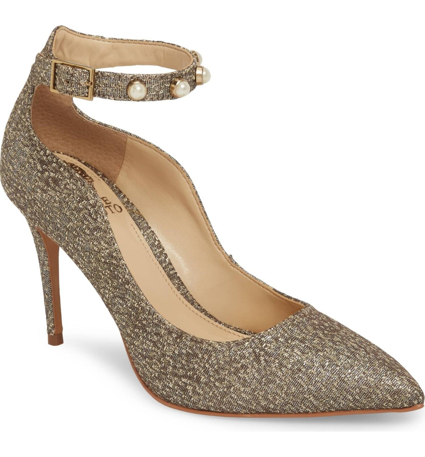 huge discount 79646 3eefa 8M VINCE CAMUTO VC-JASSITA JASSITA BRONZE femmes PUMP PUMP PUMP chaussures  ANKLE STRAP PEARLS