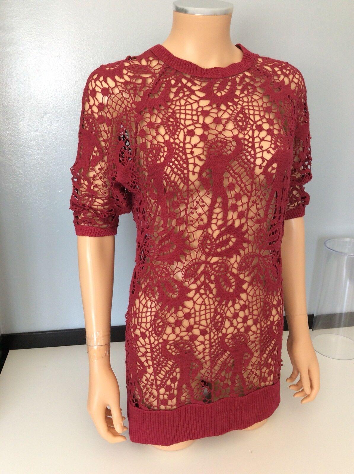 Isabel MARANT 100% 100% 100% SETA Crochet maglione Top Taglia 38  4 Manica 5f196a