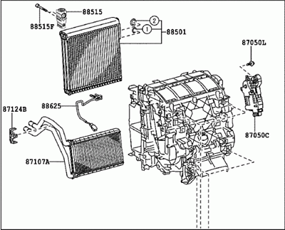 Toyota 87050-42240 Air Conditioner Radiator Assembly Radiators ...