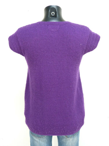 lana Gr 100 vergine K S 0218 Modern Purple Cardigan pura Antik Batik BHEwqWE8a