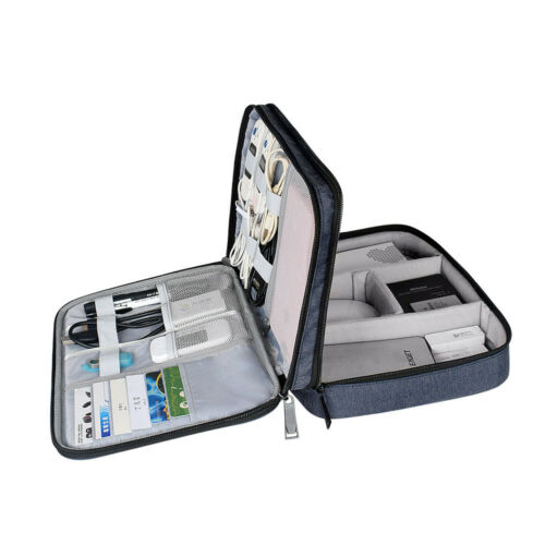 Portable Electronic Organizer Storage Bag Travel Hand Bag Cable USB Drive Case