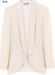 Cazadora 8 Ivory 4 Usa Stunning Blazer Bnwt Size Intropia Uk Hoss Coat Rrp£225 Cxwct1nqzA