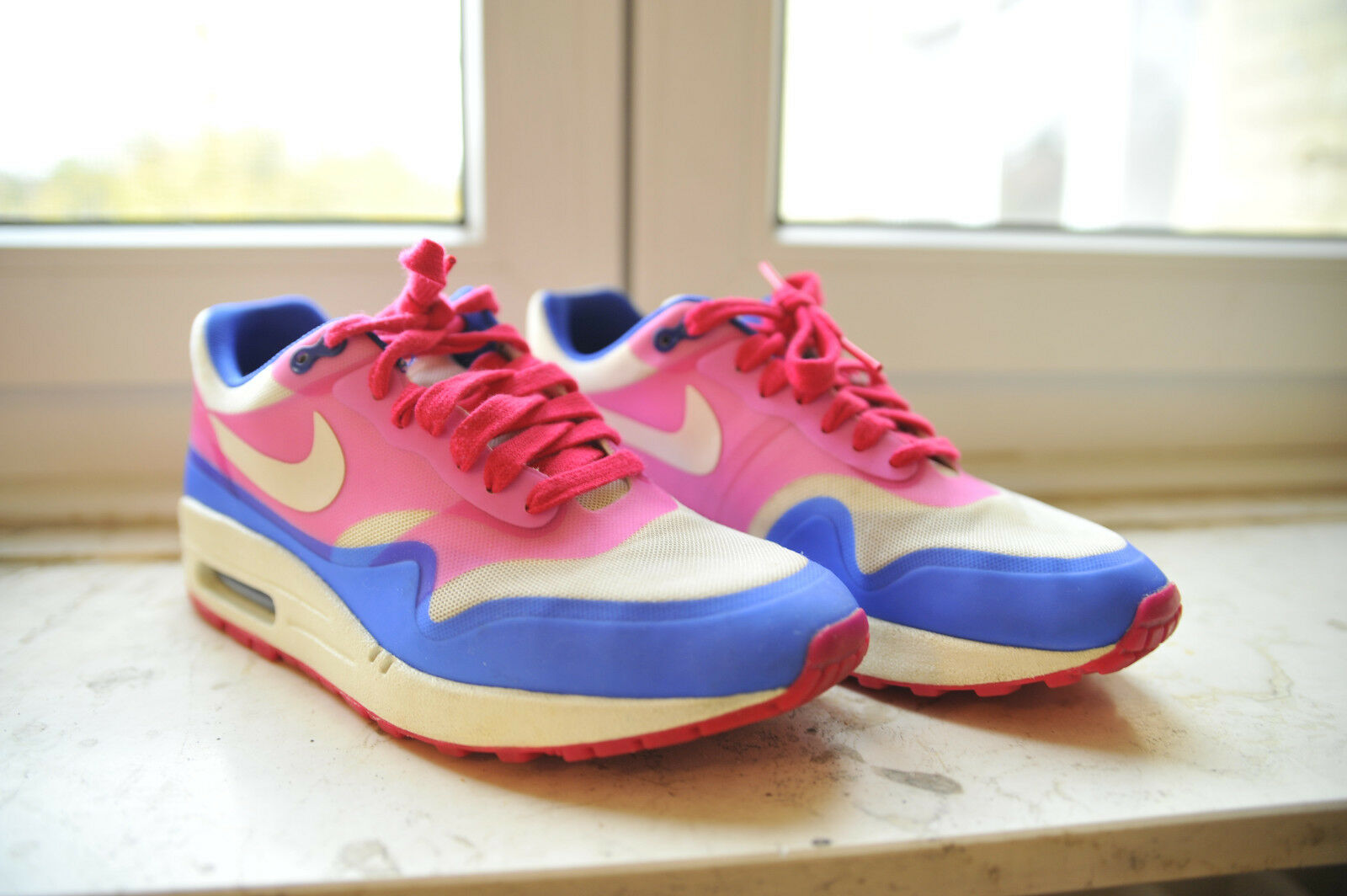 Nike Air Max 1 Hyperfuse Pink/Blau/Weiß US7,5