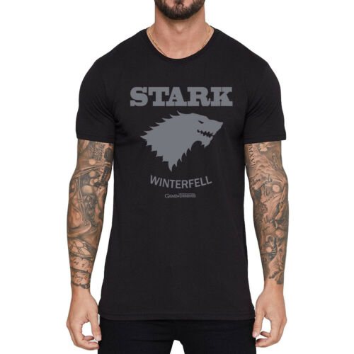 Game of thrones Short Sleeve Men/'s Funny T-shirts Black Cotton Tops Tee shirts