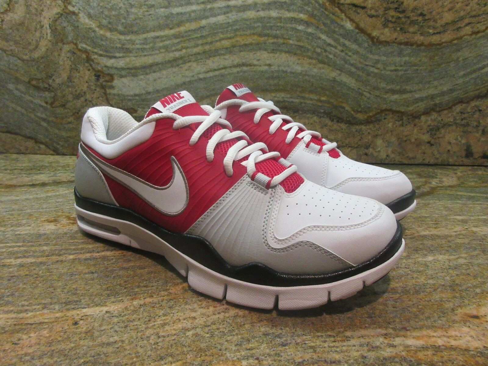 2009 Nike Air Trainer 1 Low SL Sample SZ 9 Ohio Sate OSU Buckeyes Red 386489-611