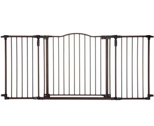 Baby Safety Gate w Door Extra Wide Metal Expandable Walk Through Dog BestDealer