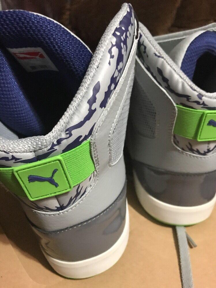 Puma El Solo Uomo US 14 grigio High High High Rise Steel verde blu Basketball scarpe 1a9406